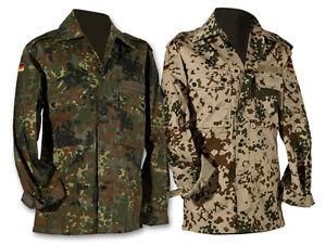BW Feldbluse Bundeswehrfeldhemd Bundeswehrhemd Flecktarn Tropentarn S-3XL