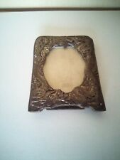 """More details for vintage miniature japanese / chinese dragon serpant picture frame silverplate 3"""""""
