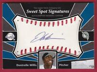 DONTRELLE WILLIS 2002 UD SWEET SPOT SIGNATURES BALL AUTO MARLINS AUTOGRAPH
