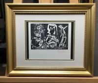 Pablo Picasso Lithograph Hand Signed In Red Pencil 1966 COA