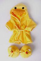 """Teddy Bear DUCK Bathrobe & Slippers CLOTHES Fit 14""""-18"""" Build-a-bear !!NEW!!"""