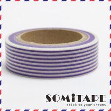Purple Striped Lines Washi Tape, Craft Decorative Tape