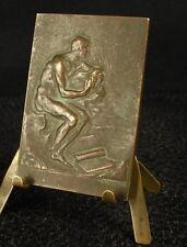 Médaille plaque levé de soleil allégoris de la méditation 57 mm 52 g Medal