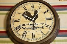 Oversized Rooster Wall Clock by Zulily Indoor/Outdoor 23-Inch Battery Operated