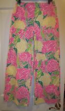 NWT LILLY PULITZER SIZE 8 WIDE LEG JESSE PANT BERMUDA PINK SHOEFLY  NEW