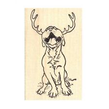 Reindeer Pit Bull Rubber Stamp - (RH19104) FREE SHIPPING
