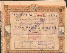 DECO => BANQUE d'ALSACE & LORRAINE 1872 (STRASBOURG) (R)