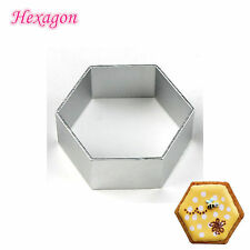 DIY Stainless Steel Hexagon Cookie Cutter Biscuit Pastry Fondant Mold Mould Cake