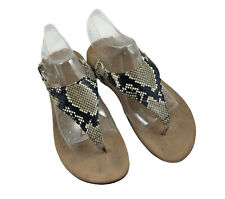 Vionic Orthoheel Kirra Back Strap Thong Sandal Womens Size 7 Snakeskin Print