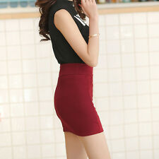 Sexy Women Mini Skirt Slim Seamless Stretch Tight Short Pencil Skirt Candy Dress
