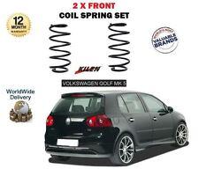 FOR VOLKSWAGEN VW GOLF MARK 5 1.9 2.0 TDI FSI 2004->NEW 2X FRONT COIL SPRING SET