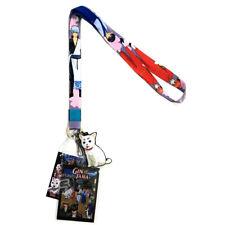 Gintama Gintoki Kagura Shinpachi Lanyard ID Badge Holder Sadaharu Dog Charm New