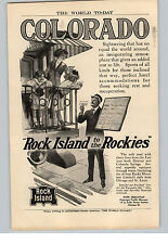 "1909 Paper Ad ""Rock Island to the Rockies"" Trains from the East to CO"