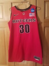 Rutgers Game Worn Used Basketball Jersey Nike Elite #30 Ncaa Big East 2010-2011