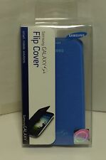 NEW Original OEM Blue Samsung GALAXY S4 Flip Cover Cell Phone Case