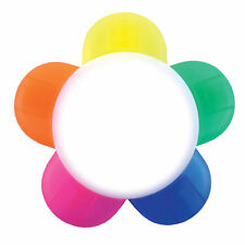 Rotulador fluorescente-forma De Flor-Multi 5 Colores En 1 escuela Oficina Papelería