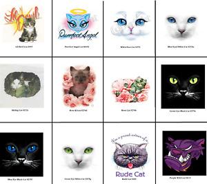 Cat Face T Shirt Fabric Transfer for HEAT PRESS Machine Application on Garments