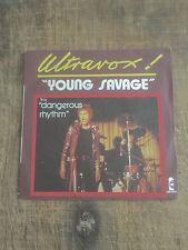ULTRAVOX - YOUNG SAVAGE - FIRST SINGLE!!!! - FRENCH PRESSING 1977 - JOHN FOXX!!!