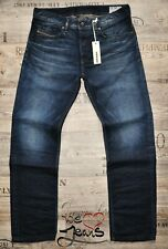 DIESEL WAYKEE 0845A 34 L30 STRAIGHT NEW MAN / MENS TOUGH JEANS DARK BLUE 34S BNT