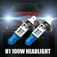 2Pcs H1 6000K Super White 12V 100w XENON HALOGEN Headlight Light Bulb Lamp AU
