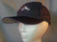 Vintage Denver Broncos NFL 'Logo 7' Brand Snapback Hat - Checkered Pattern EUC