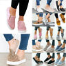 Women Flats Summer Sneakers Loafers Slip On Comfy Trainers Pumps Casual Shoes 10
