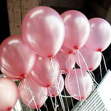 100 METALLIC/Pearl Quality LATEX BALLOONS Decoration Birthday Baloon Party