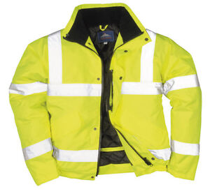 Portwest Quality Hi Vis Unisex Waterproof  Bomber Work Jacket