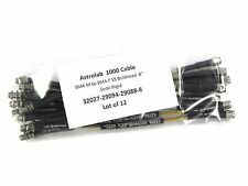 "Astrolab 1000 Cable, SMA M to SMA F SS Bulkhead F 8""  Semi Rigid Lot of 12"