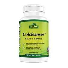 Colcleanser 100 Caps. Helps Colon Cleanse. Herbal, Rich in Fiber