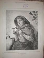 Il giovane Botanico da una rotta 1892 Old print