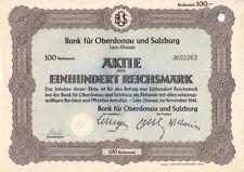 Bank für Oberdonau und Salzburg  1941  Linz / Donau