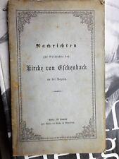 Nachrichten zur Geschichte der Kirche von Eschenbach an der Pegnitz 1859 Campe
