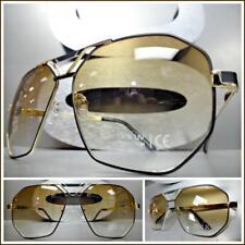 345dacfe9b1 Men s Classic Vintage Luxury Hip Hop RETRO Style SUN GLASSES Gold   Black  Frame