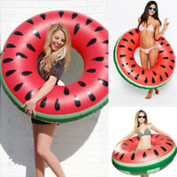 Inflatable Large Swimming Ring Watermelon Pool Float Swim Tube for Adult Kids