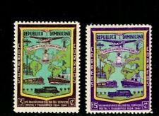ES-13946 Dominican Republic Stamp Scott# 381-382 Rep. of Transportation 1942 MNH