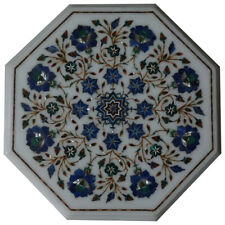 """15""""x 15"""" Very Beautiful Decorative Marble Inlay Coffee Table Top"""