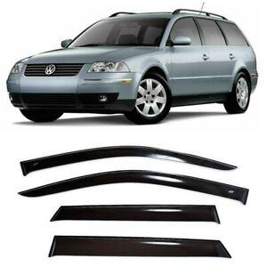 For VW Passat B5 Wagon 1997-2005 Side Window Visors Rain Guard Vent Deflectors