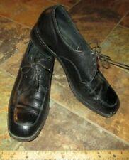 Florsheim Men Leather Oxford / Derby Dress Shoes Size 9.5D Black Comfort Cushion