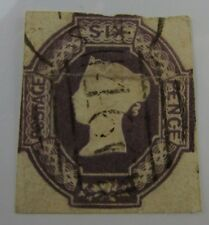 Scarce c1850 Great Britain SC #7 QUEEN VICTORIA  used stamp