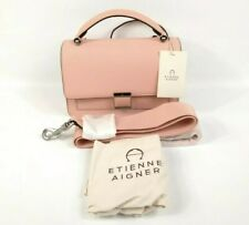 Etienne Aigner Leah Crossbody Bag Peach Beige Pink Saffiano Leather NWT $228 New