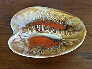 "Vintage 1970's Mid Century Modern Ceramic Drip Glaze Retro Ashtray ~ ""CALIF USA"""