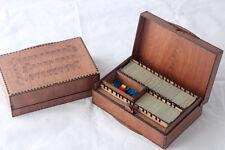 Caja de viaje con bandejas de baldosas Carcassonne y Caja de almacenamiento Meeple