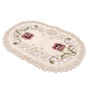 Print Embroidered Tablecloth Coffee Dust Proof Table Cloth Cover Party Decor TO