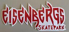 """Eisenbergs Skatepark Sticker Red/White  7 x 3.5"""""""