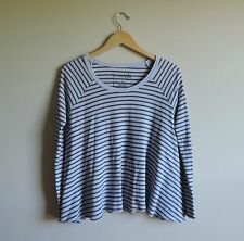 Women's Free People Striped Grey & Purple Flowy Thermal Shirt Size XS