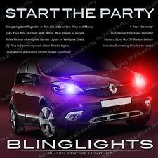 Renault Scénic MultiColor Xenon Head Tail Lamp Strobe Light Kit + Remote Control