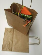 More details for 50 brown twist handle paper carrier bags 7.5