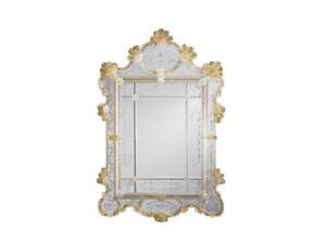 InvitingHome Authentic Venetian Wall Mirror: Gold Murano glass NO RESERVE