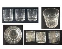 VINTAGE Lead Cut Crystal Drinking Glasses 8 oz. Old Fashion Rocks 3-Piece Set